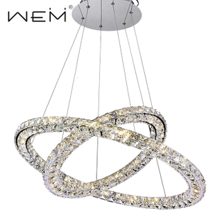 Modern Luxury Hotel Hall Decorative Chandelier Led Pendant Light Fixture Mount Crystal Chandelier Pendant Light for Home