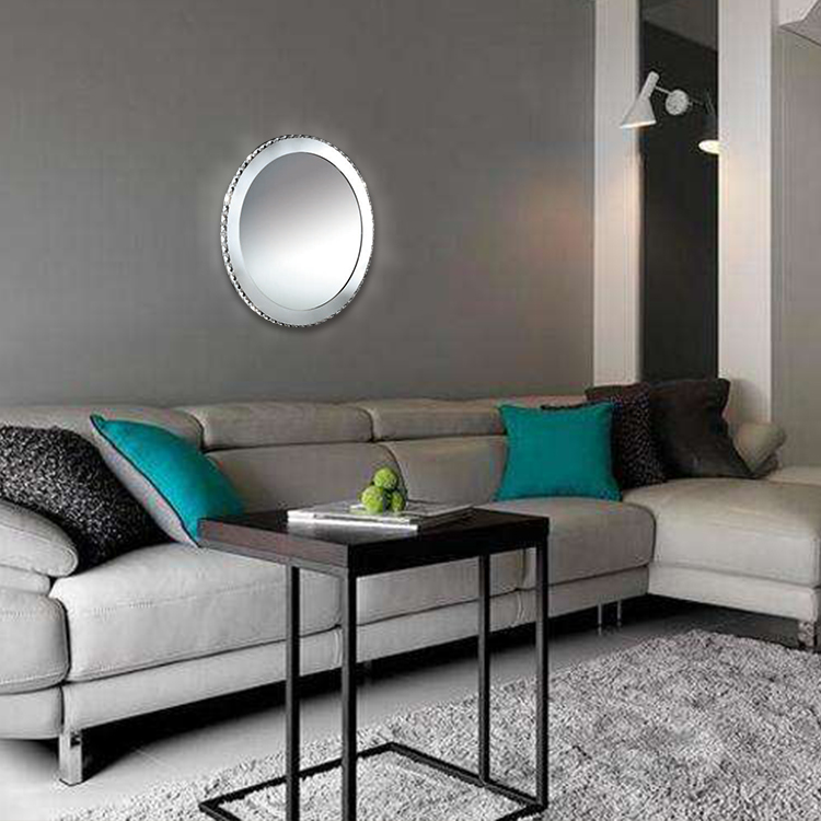 Modern Fashion Mirror Lighting Hotel Family Bedroom Wall Lamps Round Decorative Crystal LED Mirror Wall Lamp