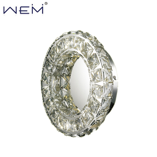 Contemporary Era Fashion Designer Crystal Wall Lamps Bedroom Livingroom Crystals Wall Lights LED Circle Wall Lamparas