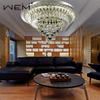 Modern Fancy Round Led 72W Crystal Ceiling Lamp Fixture Home Decorative Luxury Crystal Ceiling Light for Living Room