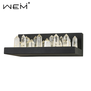 Unique Attractive Crystal Wall Lamps Satin Black LED Wall Light Bed Crystal Column Wall Lamp For Home