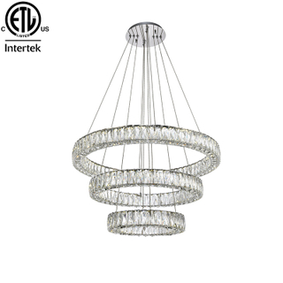 Hot Sale LED Modern Crystal Pendant Light Chandelier Circle Crystal Round Pendant Lamp